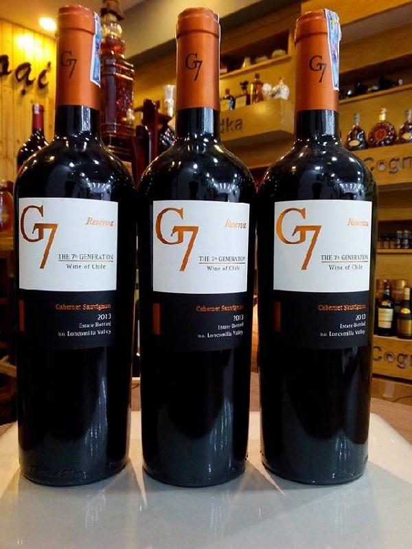 Rượu vang G7 Reserva Cabernet Sauvignon chinh phục người sành rượu