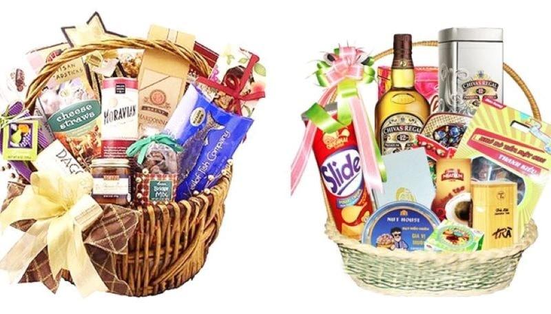 Hộp quà Tết có các sản phẩm bổ dưỡng, có lợi cho sức khỏe