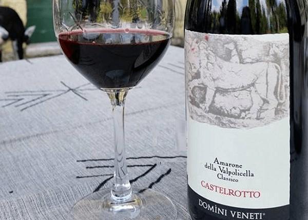 Rượu vang Amarone Castelrotto thượng hạng của Ý
