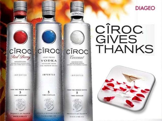 Các dòng sản phẩm và đặc điểm hương vị mà Ciroc Vodka mang lại