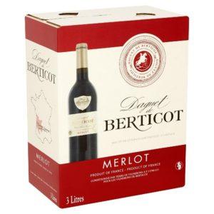 DAGUET DE BERTICOT MERLOT đẳng cấp từ bao bì đến hương vị