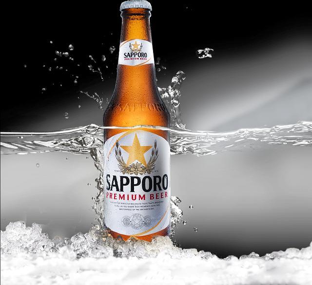 Hình ảnh rượu bia cùng thương hiệu Sapporo trên hơn 40 quốc gia lớn nhỏ