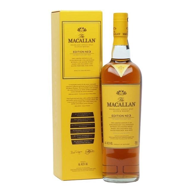 Macallan Edition No.3 sở hữu hương thơm không thể chối từ