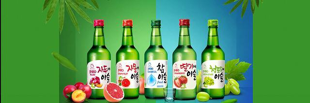 Một số loại của Jinro Soju